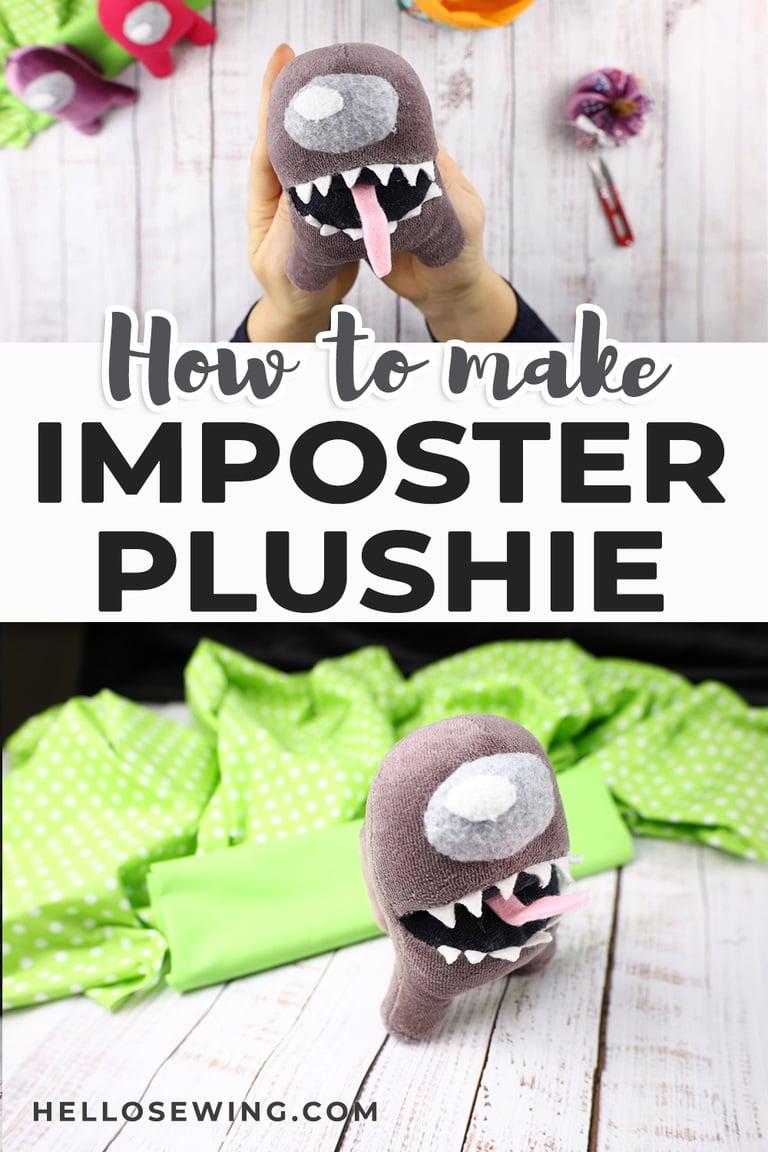 Among Us Imposter Plush - Free Sewing Pattern