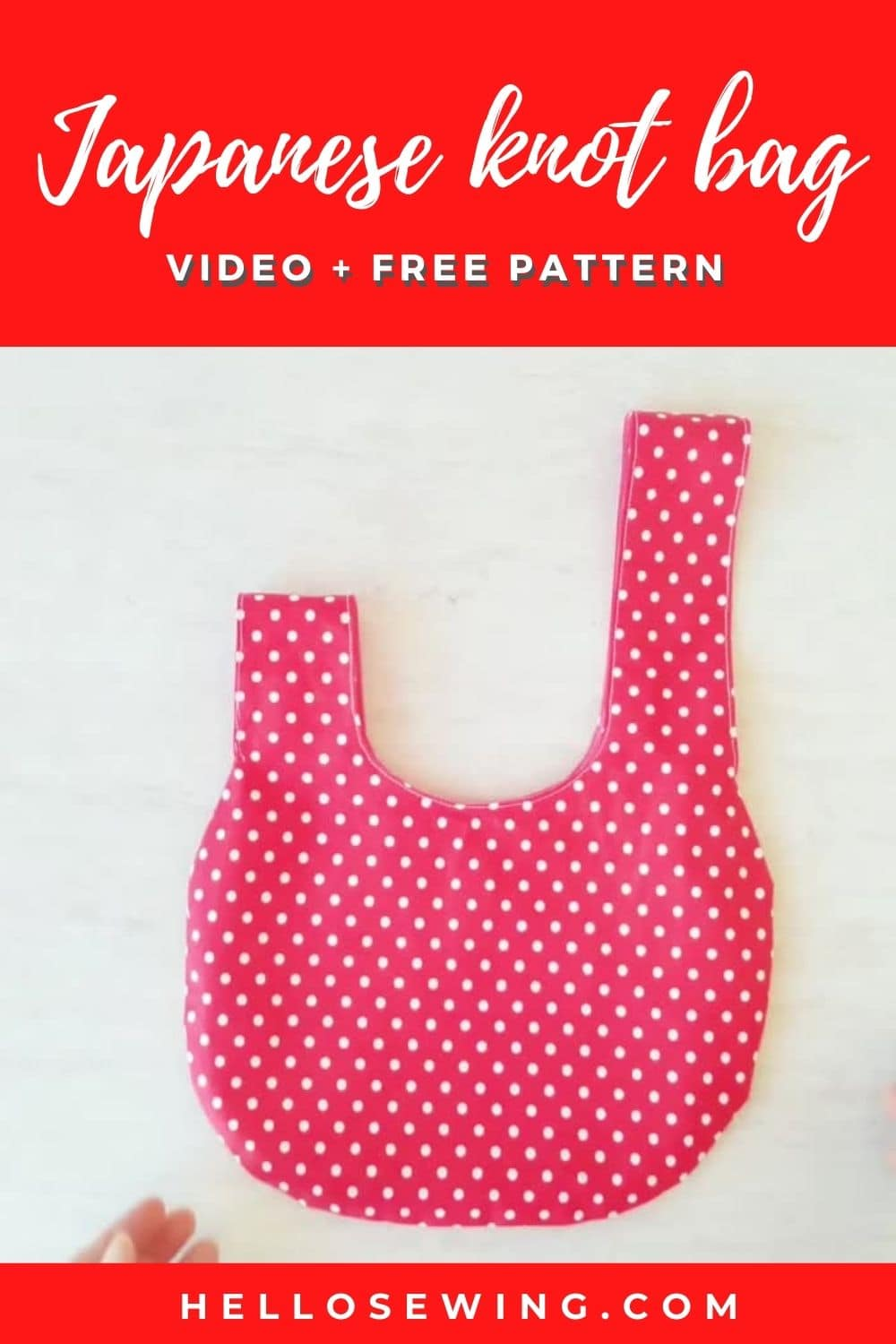 Japanese Knot Bag - DIY Tutorial with Video