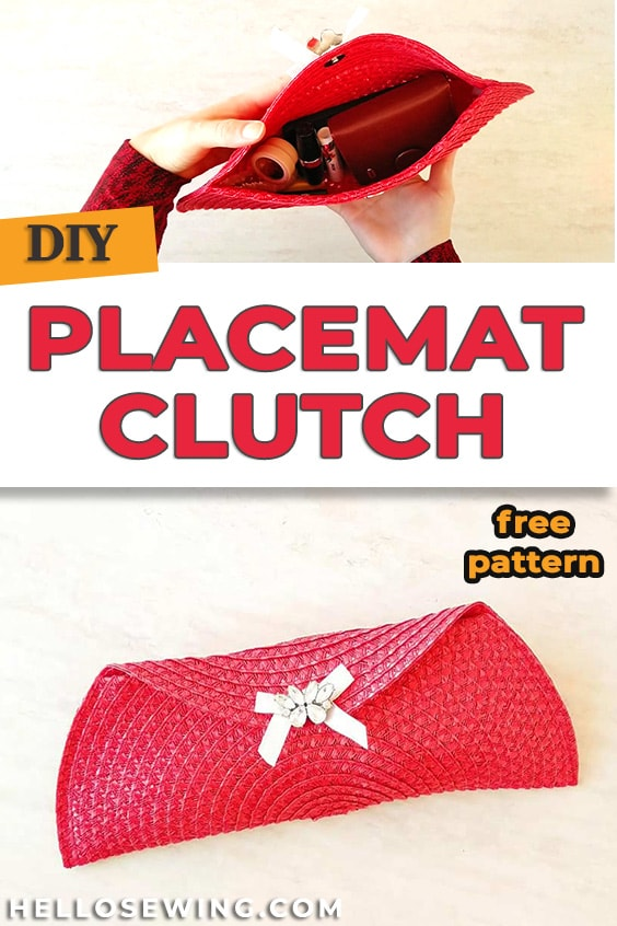 Easy Sew or No-Sew Placemat Clutch - DIY Tutorial