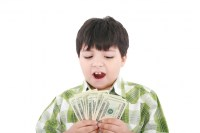 Boy and money