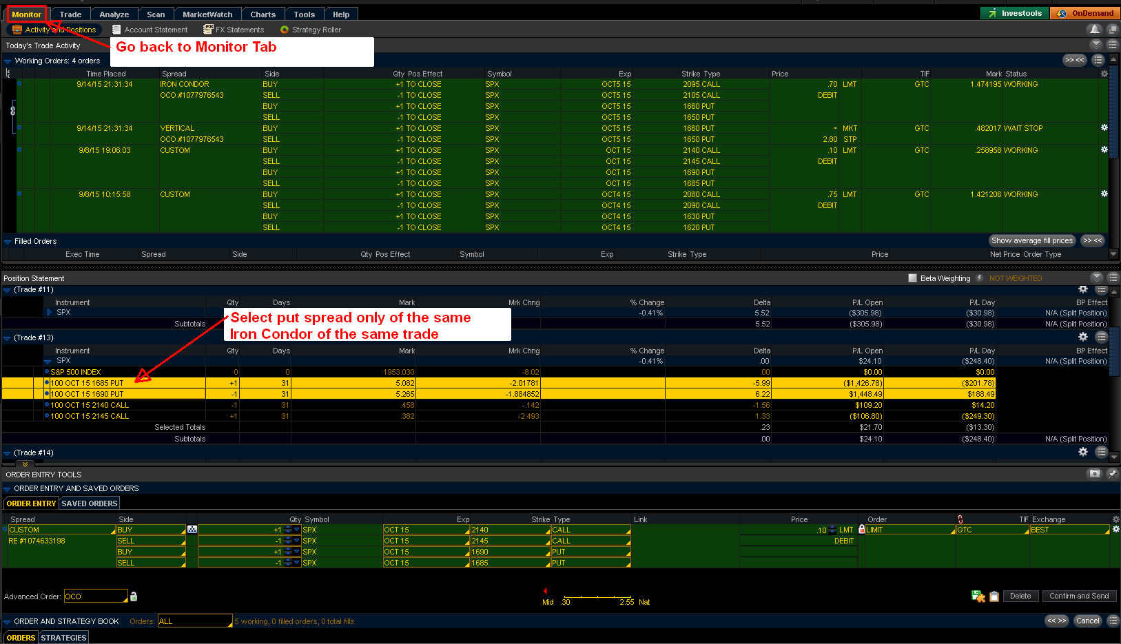 SPX puts closing only