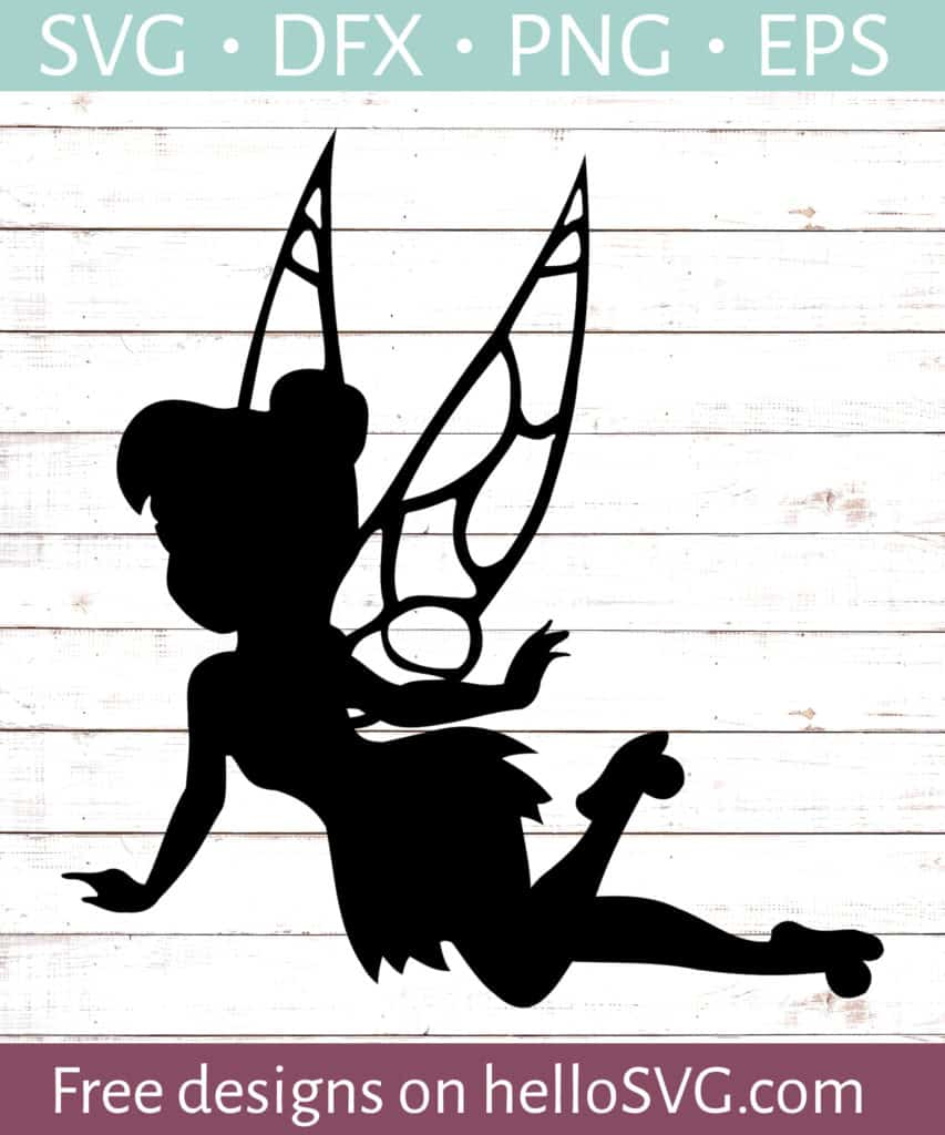 Download Tinkerbell Silhouette #1 SVG - Free SVG files | HelloSVG.com