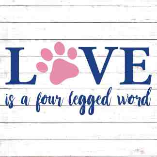 Download Love Is A Four Legged Word SVG - Free SVG files | HelloSVG.com