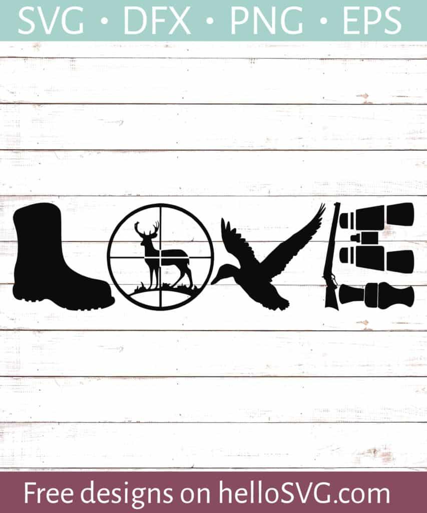 Download Hunting Love #3 SVG - Free SVG files | HelloSVG.com
