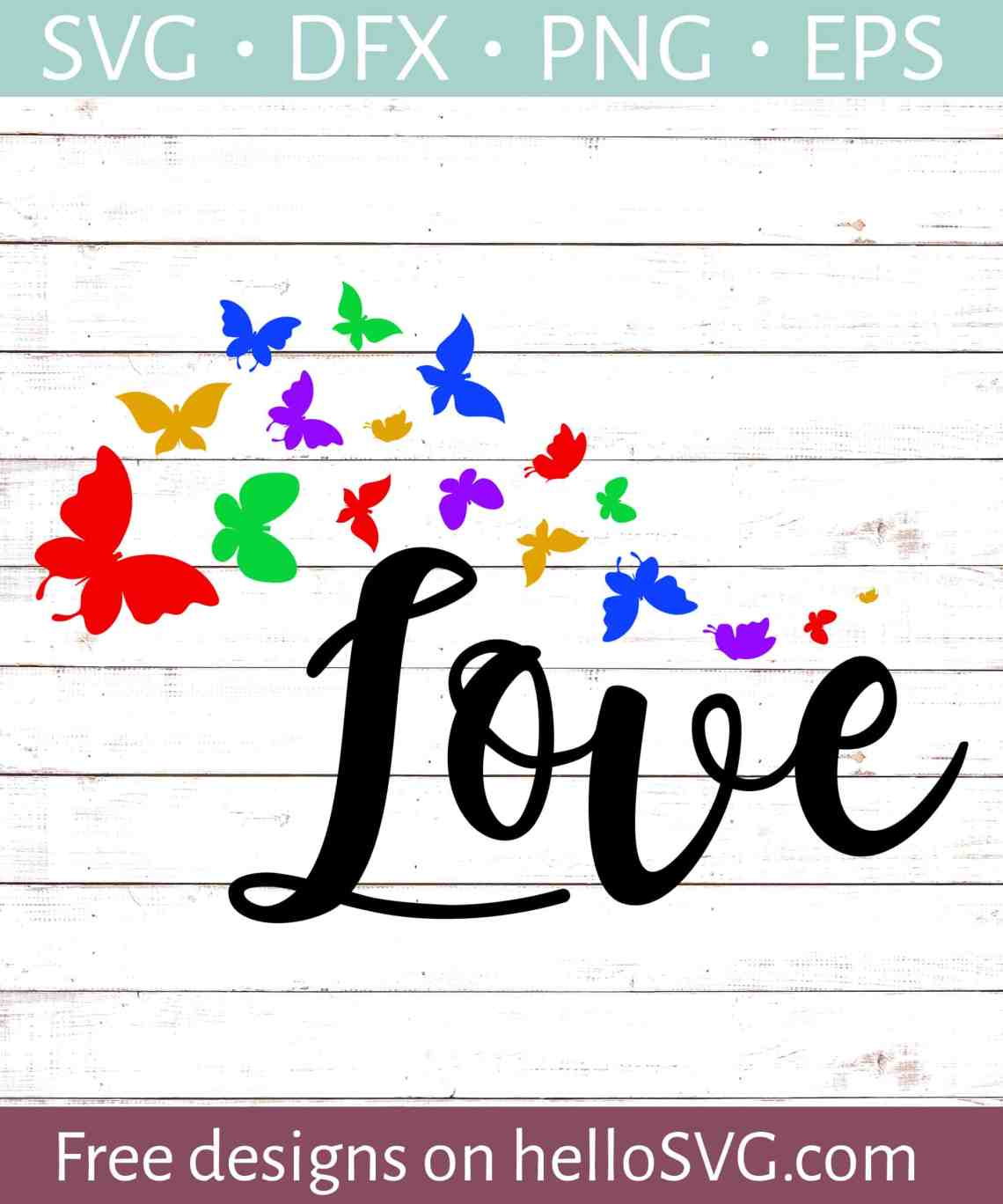 Download Love with Butterflies (Autism) SVG - Free SVG files ...