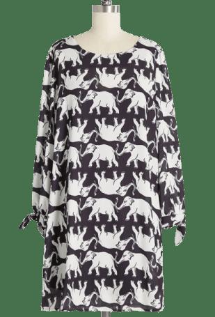 ModCloth Elephant Day house dress vintage