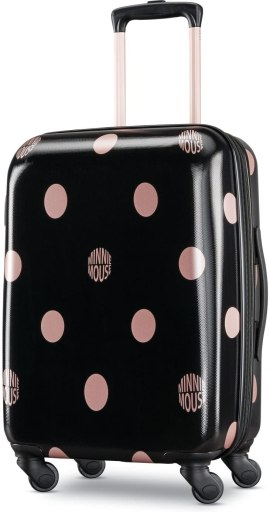 American Tourister Disney Hardside Luggage with Spinner Wheels, Minnie Lux Dots, Carry-On 21-Inch