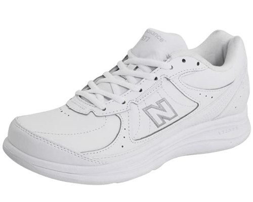 New Balance White Lace-up Sneaker