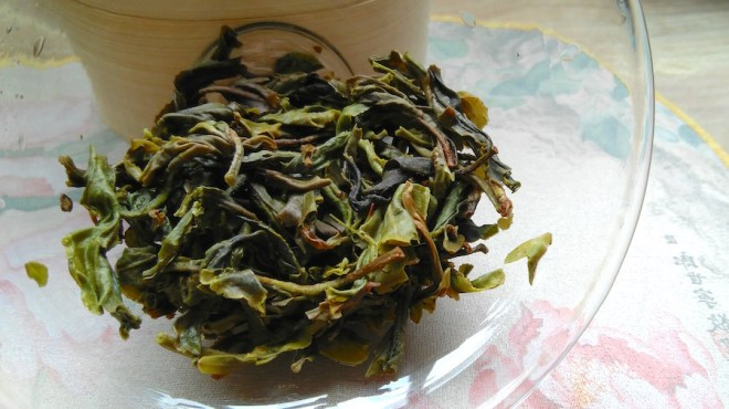 xi gui pu erh wet tea leaves