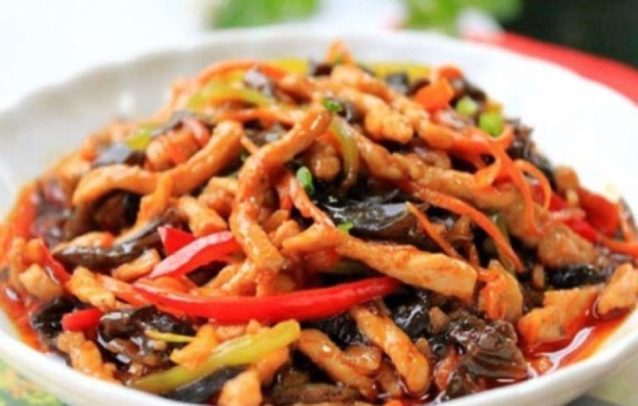 Fish-Flavoured Shredded Pork Yu Xiang Rou Si 鱼香肉丝