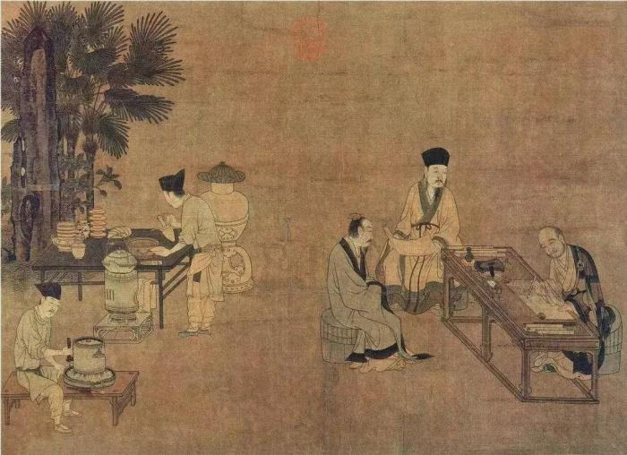 grinding tea dian cha song dynasty