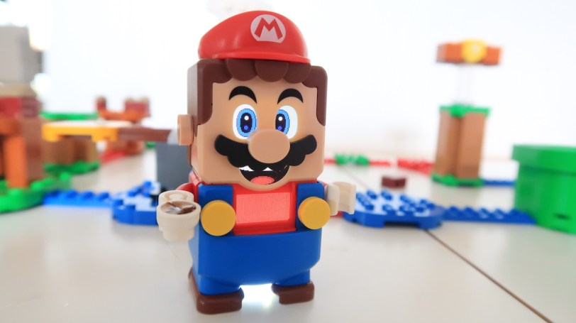 Lego Mario with a cup of tea