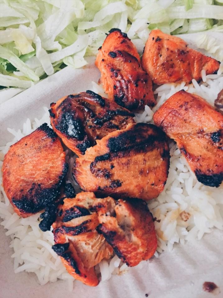 Toronto, Canada - Pita Land - Chargrill BBQ Chicken Kebab Plate - helloteri