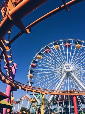 Santa Monica, California, USA - Promenade Mall, Third Street Promenade, Pacific Park, Route 66 Sign, Santa Monica Beach and Santa Monica Pier - helloteri