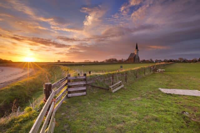 Witte kerkje van Den Hoorn op Texel