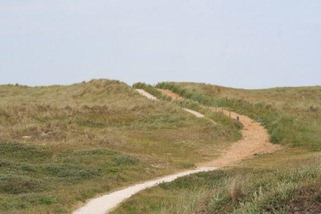Eierland wandelen route Nationaal Park Duinen texel