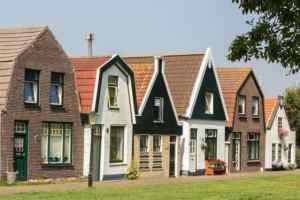 Huisjes in de Cocksdorp op Texel