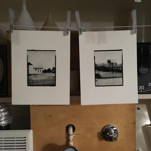 Rectangles and 40 Business hanging to dry