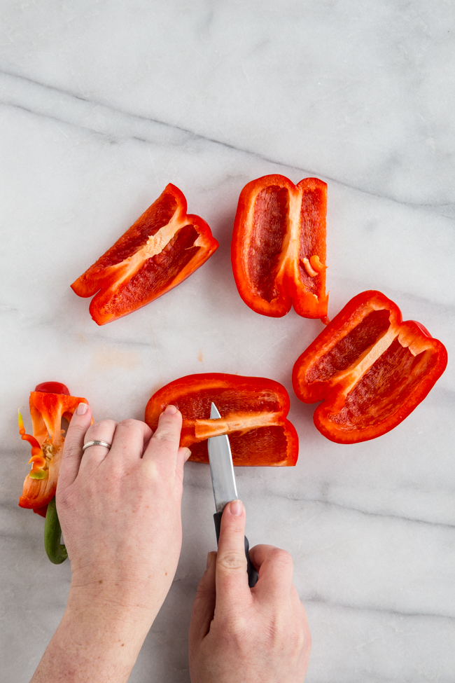 How to Cut Bell Peppers