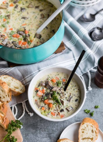 Creamy Wild Rice and Portobello Soup – Because Winter Isn't Over Yet!