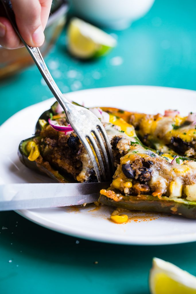 Your Whole Family Will Love These Black Bean and Veggie Stuffed Poblanos