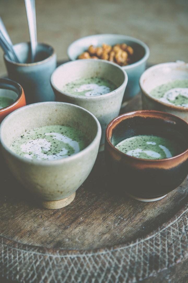 Broccoli Soup with Feta Cream