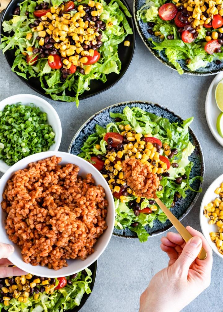 Ridiculously Big Vegetarian Taco Salad