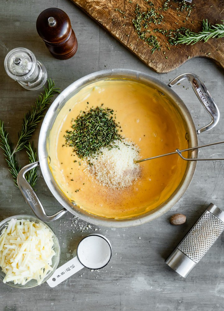 Creamy + Cheesy Butternut Squash Baked Ziti