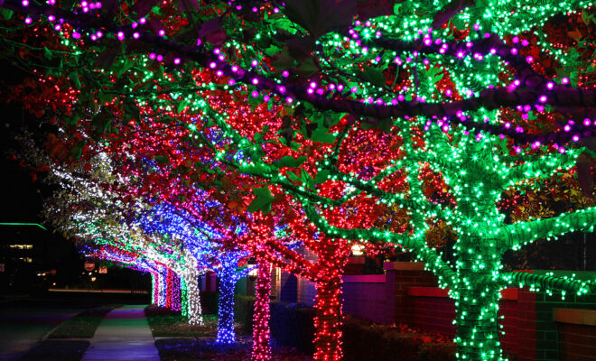 christmas lights in the woodlands area