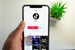 Phone with TikTok app