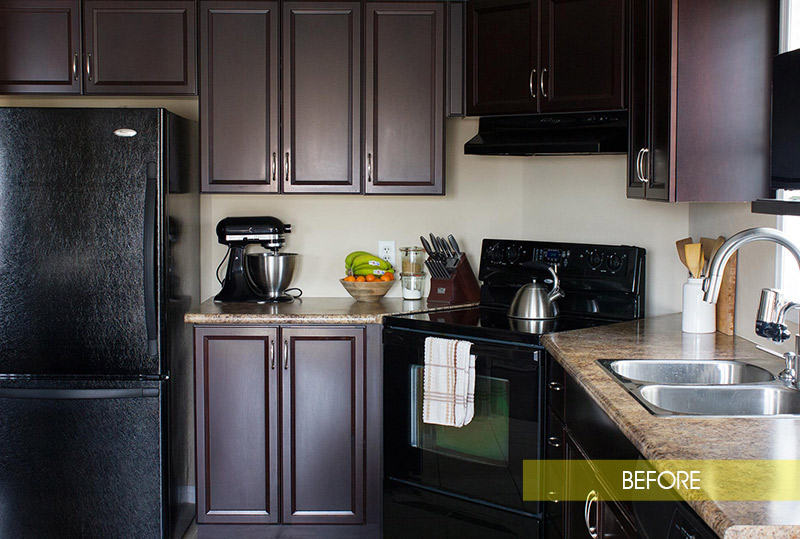 Black Appliances Before LG Stainless Steel Upgrade