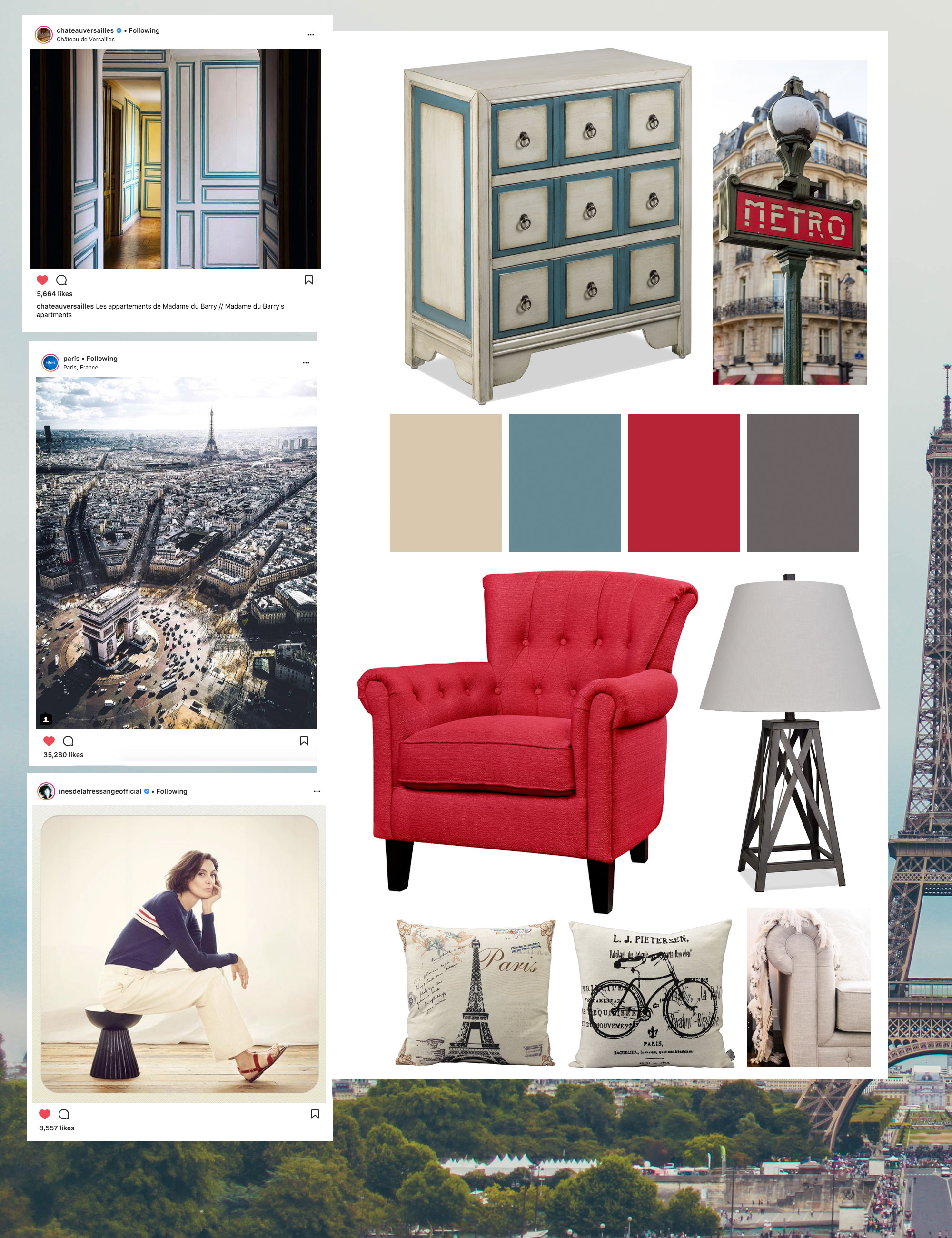 French style and Paris mood board