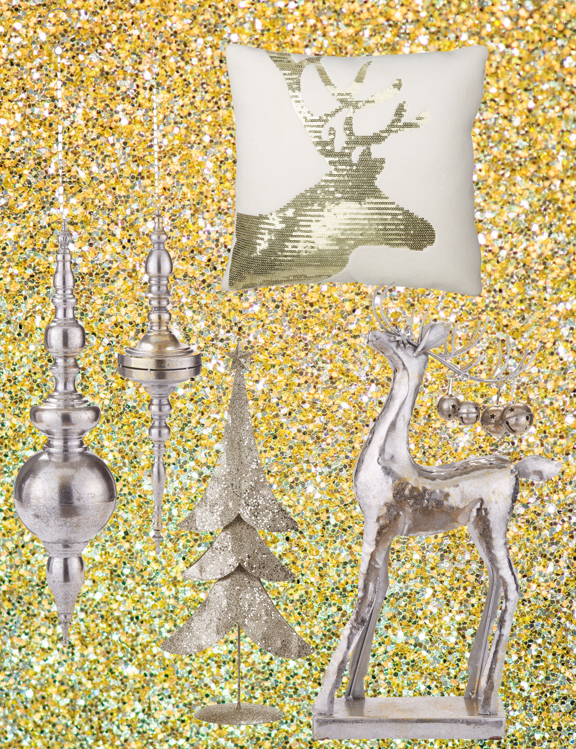 metallic-christmas-decorations