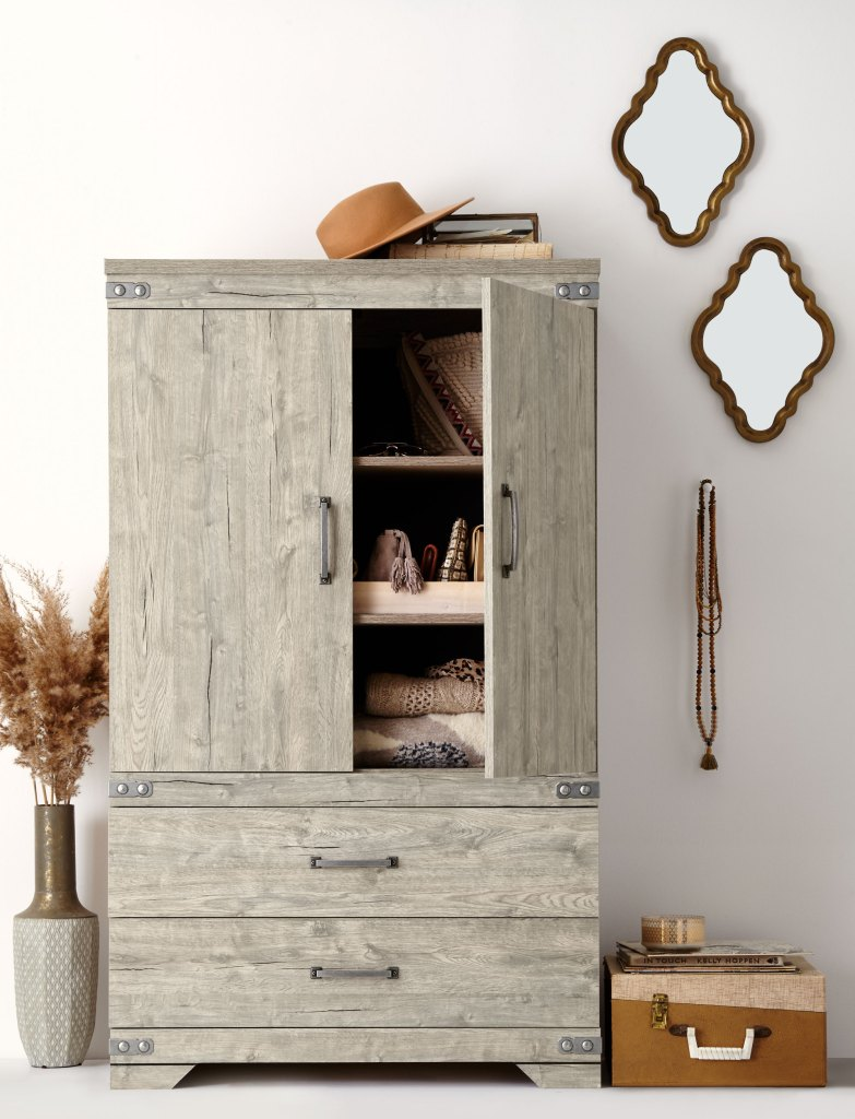 master bedroom decorating ideas weathered armoire