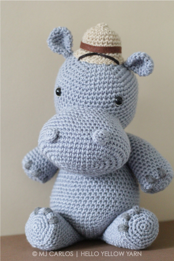 Amigurumi Hippopotamus - A Free Crochet Pattern - Grace and Yarn | 900x600