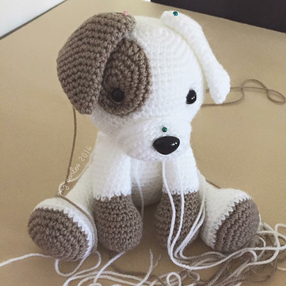 PROJECT #027: AMIGURUMI DOG WITH DIY FUR | Crochet dog, Cute ... | 960x960