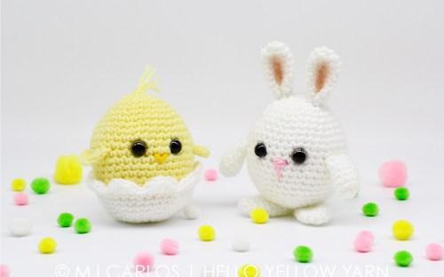 Chick plush Easter crochet