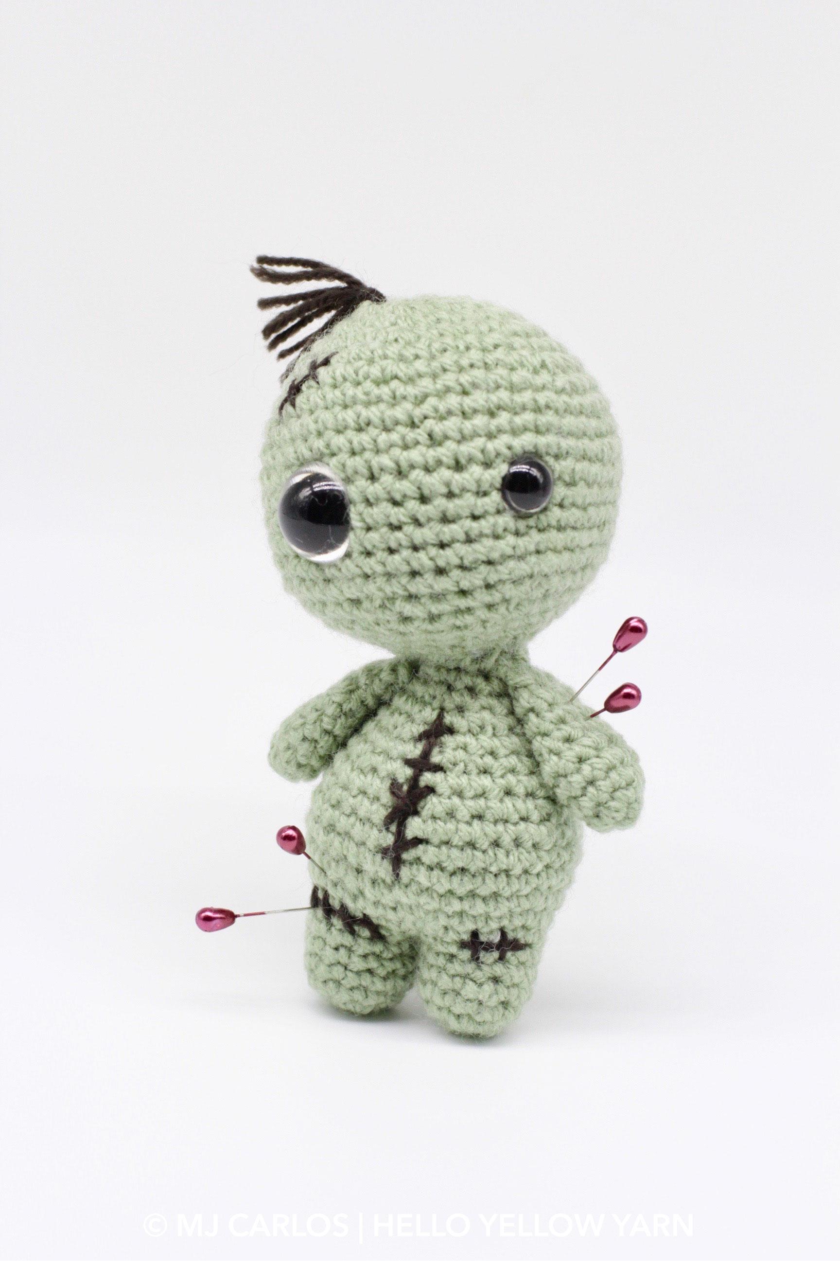 Mu\u00f1eco voodoo Poppet Doll Crochet amigurumi toy Crochet toy Pincushion Zombie Doll Vodou Doll Voodoo doll Stuffed toy