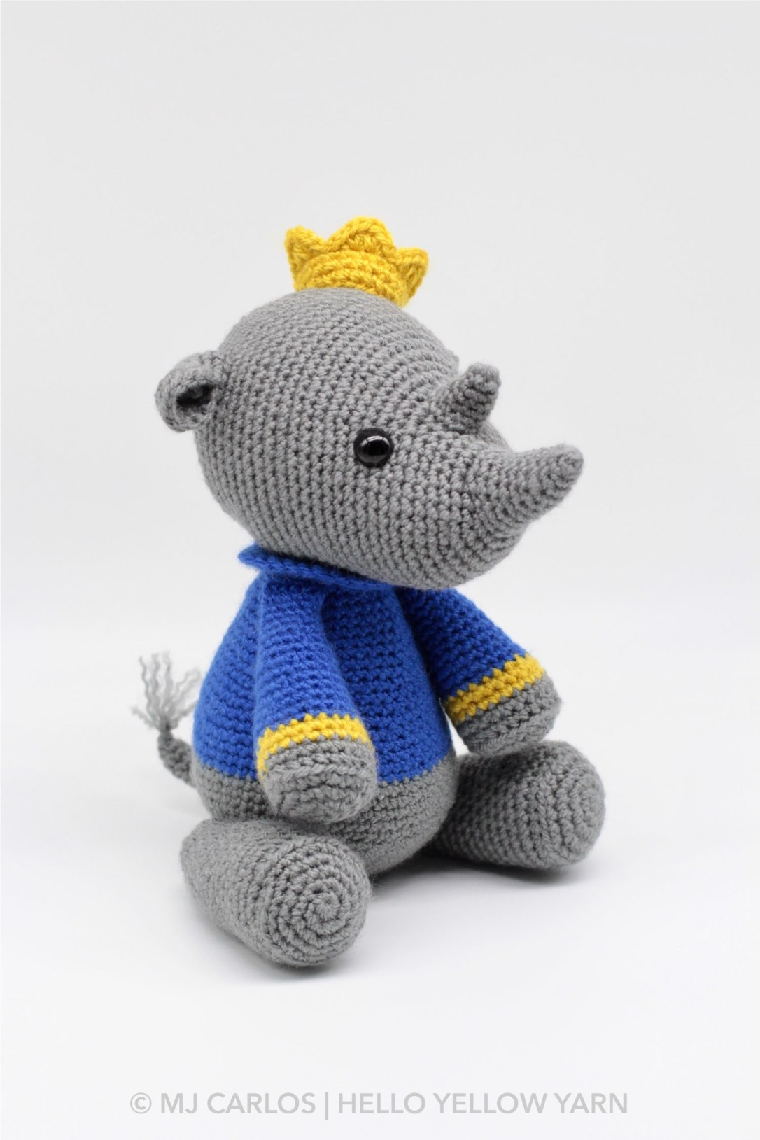 Roy the Rhino Amigurumi Pattern