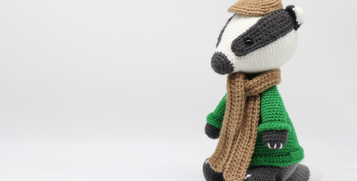PATTERN: Blossom the Badger - Crochet badger pattern - amigurumi ... | 600x1180