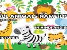 Animal Names in Hindi & English with Pictures