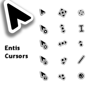 Free Download Mouse Cursors / Pointers For Windows XP, 7, 8, 8.1 And 10 - Install And Use - entis_by_firstfooter-hell-pc