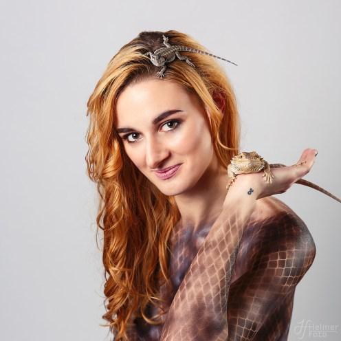 Bodypaint, reptil, kreativ fotograf, HelmerFoto