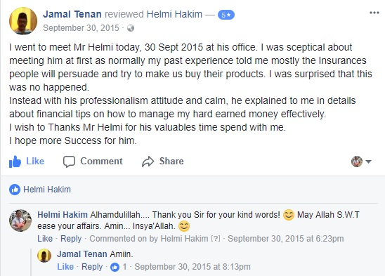 What Clients Say About Helmi Hakim's Financial Advisory Sessions…