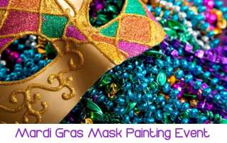 Helm Paint & Decorating Mardi Gras Mask Painting Event