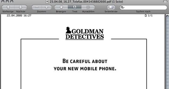 Fax von Goldman Detectives