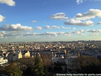 Blick auf Paris Montmartre