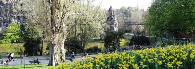 Der Park Buttes Chaumont in Paris