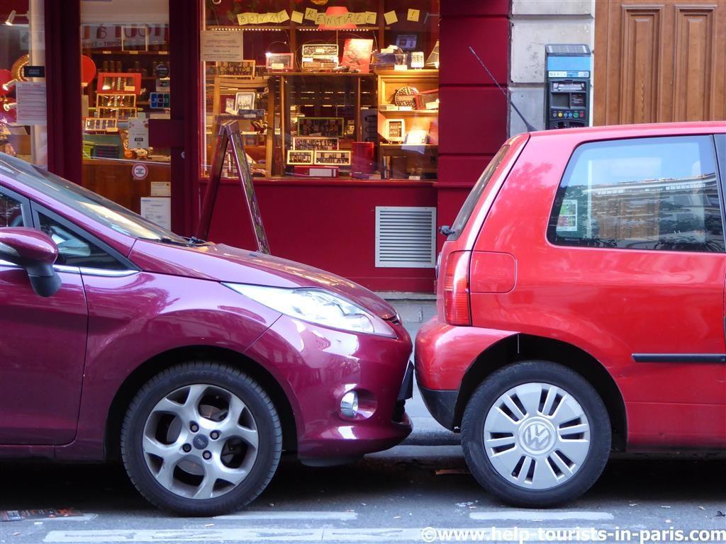 Parken in Paris Vorsicht