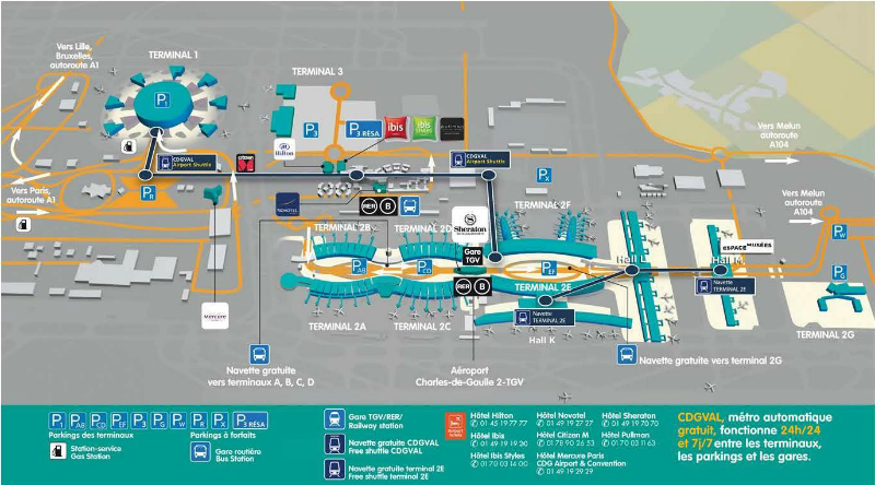 Terminal Plan CDG Paris